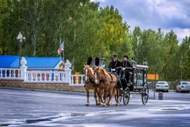 Конные похороны на карете XIX века