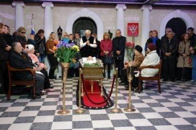 Большой зал Новосибирского крематория