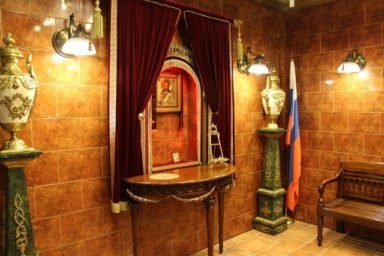 Малый траурный зал Новосибирского крематория