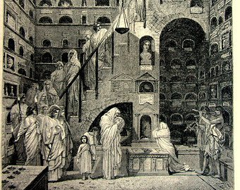 История кремации, колумбарии