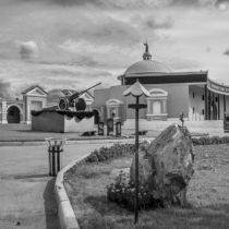 Новосибирский крематорий черно-белый