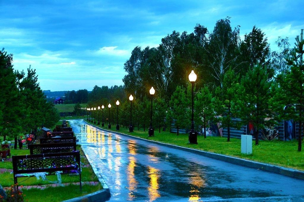Новосибирский крематорий вечерние фото аллея
