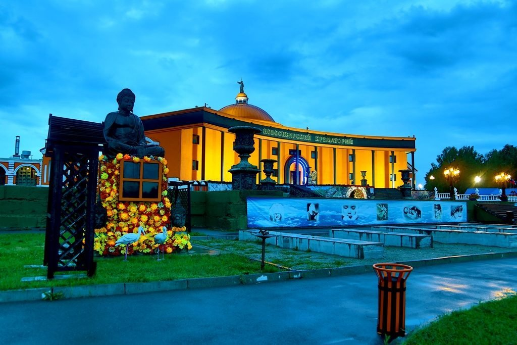 Новосибирский крематорий вечерние фото 15