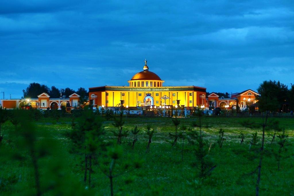 Новосибирский крематорий вечер