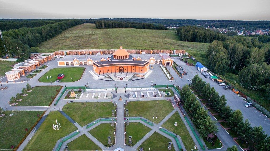 Крематорий и Парк Памяти с высоты птичьего полёта — 2015