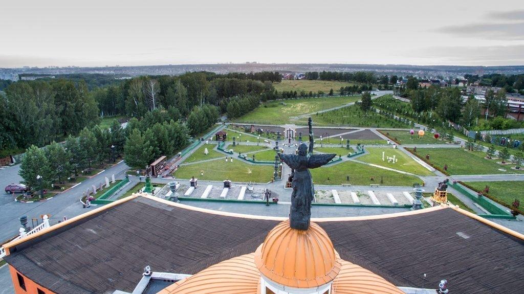 Новосибирский крематорий с высоты птичьего полета