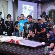 похороны М Гуляева в Новосибирском крематории