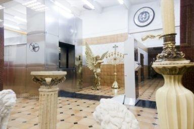 зал печей Новосибирский крематорий