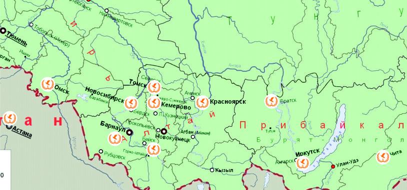 Новосибирский крематорий в других городах России и СНГ