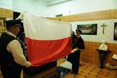 складывание флага Новосибирский крематорий