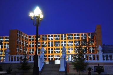 колумбарий ночь в Новосибирском крематории