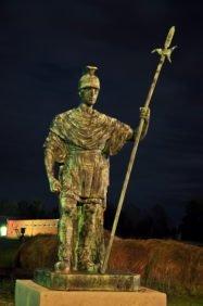 Новосибирский крематорий ночью